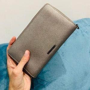 Rebecca Minkoff metallic silver wallet